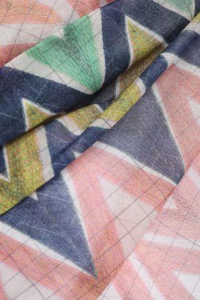 M MISSONI Printed cotton-voile pareo