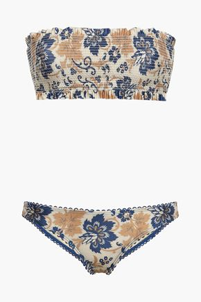 ZIMMERMANN Shirred bandeau bikini