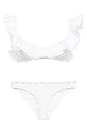 ZIMMERMANN Ruffled Swiss-dot bikini