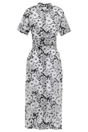 LISA MARIE FERNANDEZ Floral-print cotton midi dress