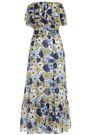 LISA MARIE FERNANDEZ Strapless floral-print cotton midi dress
