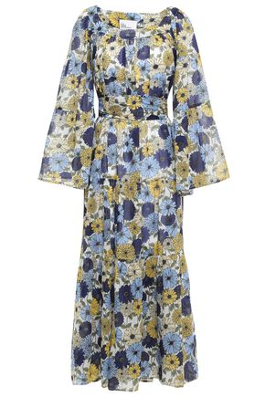 LISA MARIE FERNANDEZ Floral-print cotton maxi dress