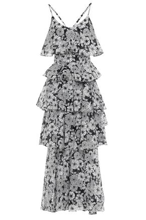 LISA MARIE FERNANDEZ Tiered floral-print cotton maxi dress