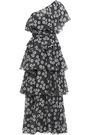 LISA MARIE FERNANDEZ One-shoulder floral-print cotton maxi dress