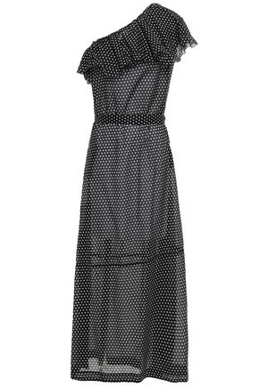 LISA MARIE FERNANDEZ One-shoulder polka-dot cotton maxi dress