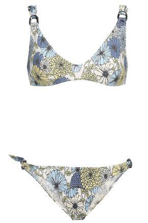 LISA MARIE FERNANDEZ Floral-print triangle bikini