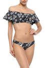 LISA MARIE FERNANDEZ Off-the-shoulder ruffled printed bikini top