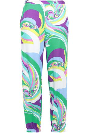 EMILIO PUCCI Printed jersey tapered pants