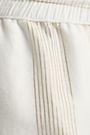 ONIA Chloe metallic striped cotton-blend voile wide-leg pants