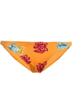 ONIA Floral-print low-rise bikini briefs