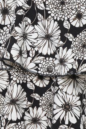 LISA MARIE FERNANDEZ Tiered floral-print bikini