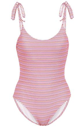 ONIA Ginny bow-detailed swimsuit