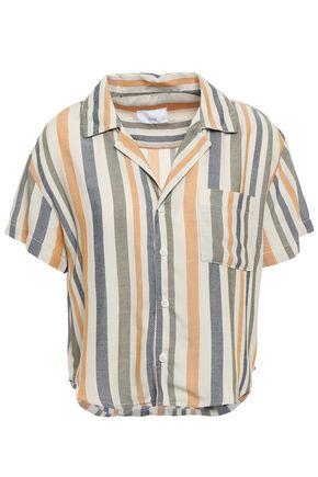 ONIA Celeste striped jacquard shirt