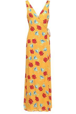 ONIA Grace floral-print voile maxi wrap dress