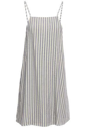 ONIA Sasha metallic striped twill mini dress