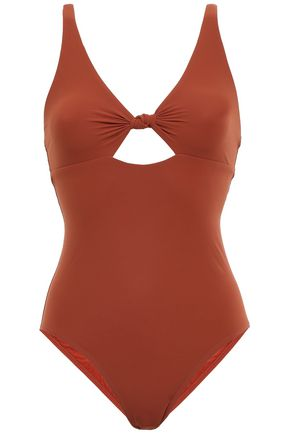 TORY BURCH Cutout knotted swimsuit