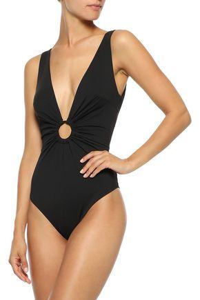 ZIMMERMANN Wayfarer ruched ring-embellished swimsuit