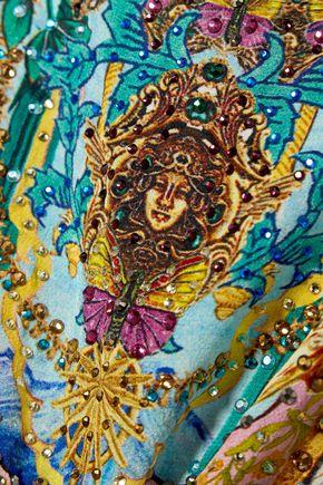 CAMILLA The Caravan crystal-embellished silk crepe de chine coverup