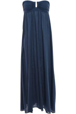 ERES Zéphyr Rosalie strapless scuba-paneled cotton-jersey maxi dress
