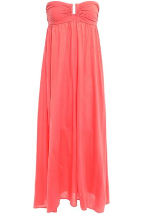ERES Zéphyr Rosalie strapless scuba-paneled cotton-jersey maxi dress