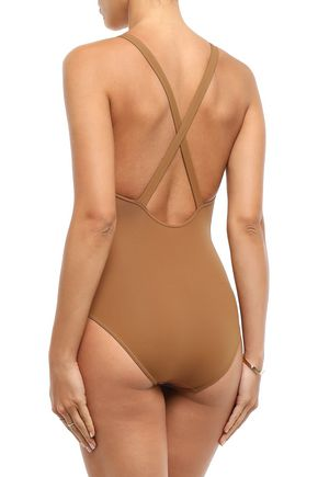 ERES Open-back braid-trimmed swimsuit