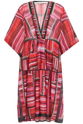 MARY KATRANTZOU Georgina cotton and silk-blend voile kaftan