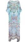 CAMILLA Benbless crystal-embellished printed silk crepe de chine kaftan