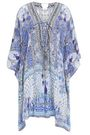 CAMILLA Embellished lace-up silk crepe de chine kaftan