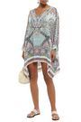 CAMILLA Sister Of The Marigold embellished silk crepe de chine coverup
