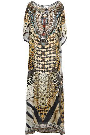 CAMILLA Louwalan Tales crystal-embellished silk crepe de chine coverup