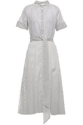 LISA MARIE FERNANDEZ Belted polka-dot cotton-voile midi shirt dress