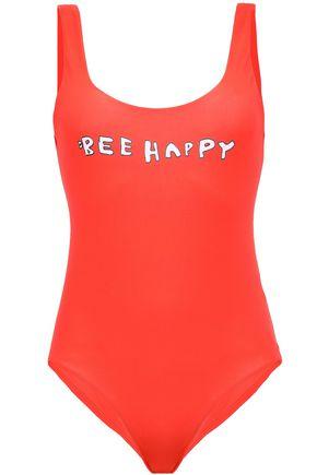 GANNI Prolific printed swimsuit