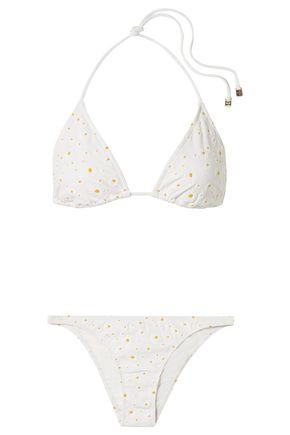 TORY BURCH Cloqué triangle bikini