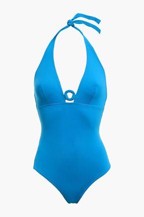 ERES Studio Effect ring-embellished halterneck swimsuit
