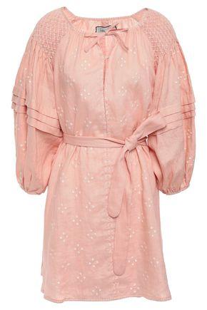 INNIKA CHOO Hans smock-trimmed embroidered linen dress