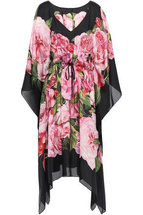 DOLCE & GABBANA Floral-print silk-organza kaftan