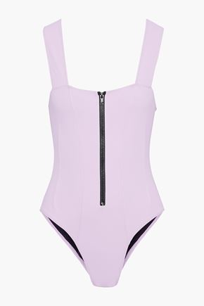 ROCHELLE SARA The Kelsey zip-detailed swimsuit