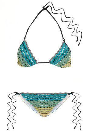 MISSONI MARE Mare dégradé crochet-knit triangle bikini