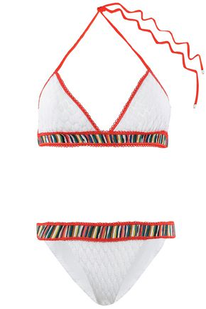 MISSONI MARE Mare striped crochet-knit triangle bikini
