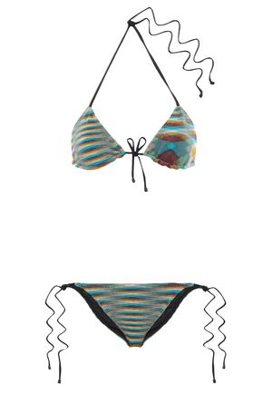 MISSONI MARE Striped knitted triangle bikini