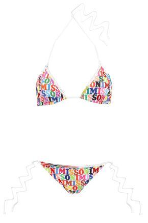 MISSONI MARE Crochet-trimmed printed low-rise triangle bikini