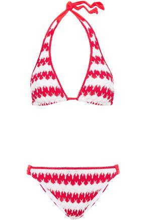 MISSONI MARE Mare striped crochet-knit halterneck bikini