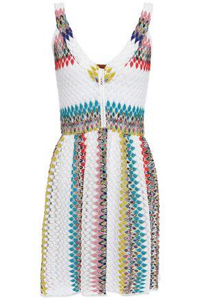 MISSONI MARE Mare striped crochet-knit mini dress