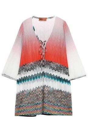 MISSONI MARE Mare lace-up dégradé crochet-knit coverup