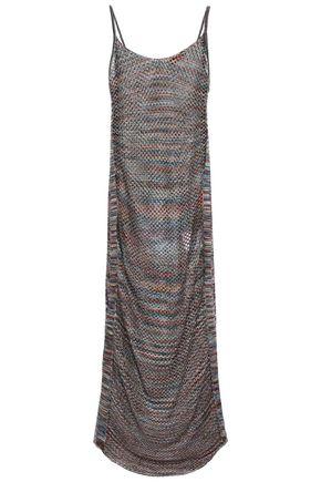MISSONI MARE Mare metallic open-knit midi dress