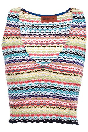 MISSONI MARE Cropped crochet-knit top