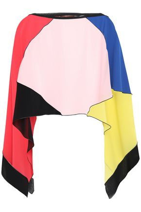 MISSONI MARE Color-block silk-georgette coverup