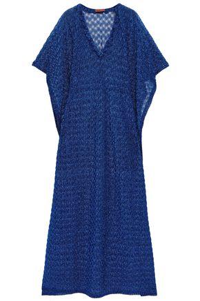 MISSONI MARE Ruffle-trimmed metallic knitted kaftan