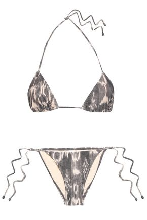 ZIMMERMANN Tali printed halterneck bikini