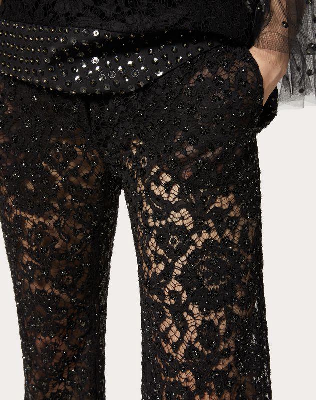 Bestickte Hose aus Heavy Lace